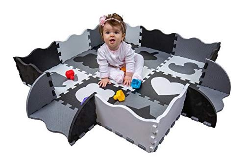 Extra Thick Foam Floor Play Mat for Tummy Time and Crawling
