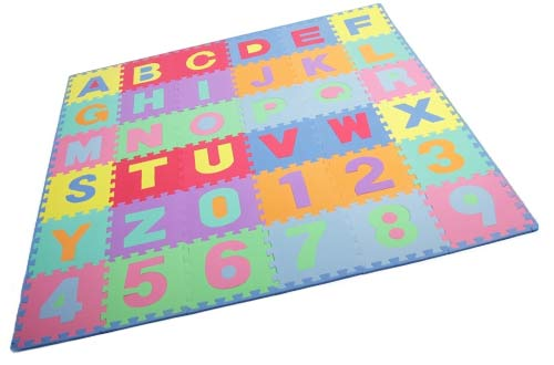 ProSource Kids Puzzle Alphabet Numbers Playmat