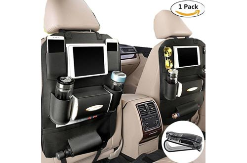 PALMOO Pu Leather Car Seat Back Organizer