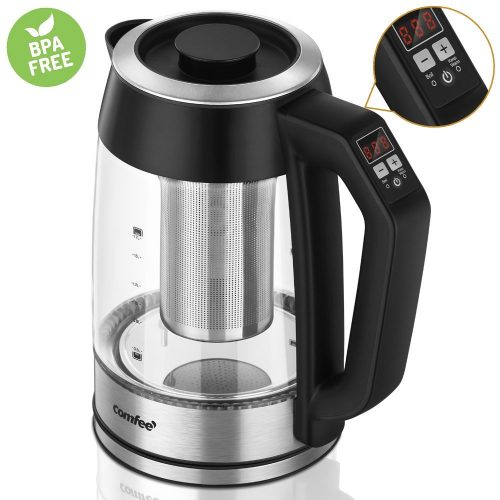 Comfee 1.7 Liter & 1500W Glass Electric Kettle