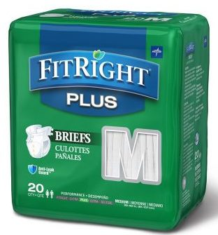 FitRight Plus Adult Briefs with Tabs