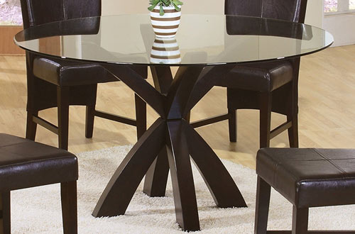 Coaster Casual Modern Round Dining Table