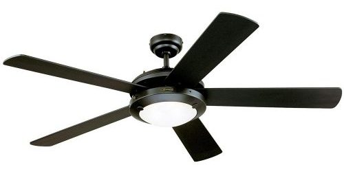 Westinghouse 7801665 Comet Two-Light 52-Inch Reversible Five-Blade Indoor Ceiling Fan