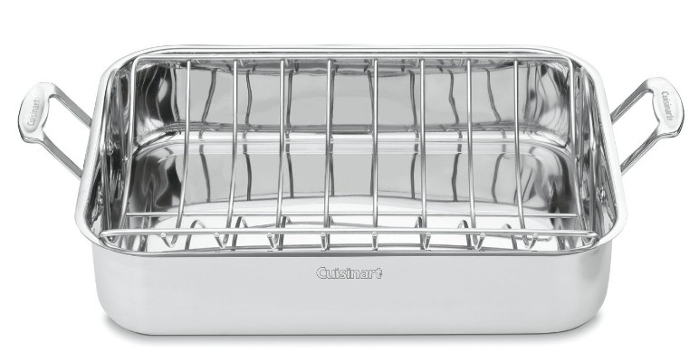 Cuisinart Chef's Classic Stainless 16-Inch Rectangular Roaster with Rack, 7117-16UR