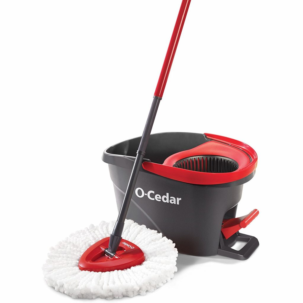 1. O-Cedar EasyWring Microfiber Spin Mop and Bucket Floor Cleaning System