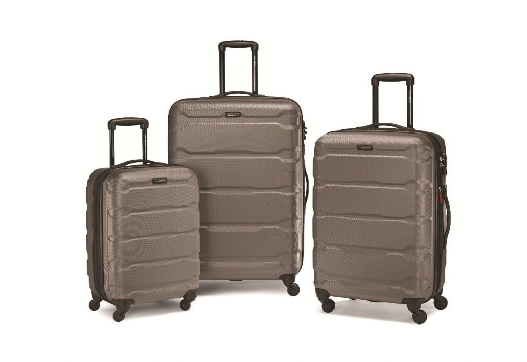 1. Samsonite 68311-1776 Omni PC Hardside Spinner 20 24 28, Silver, 3 Piece Set
