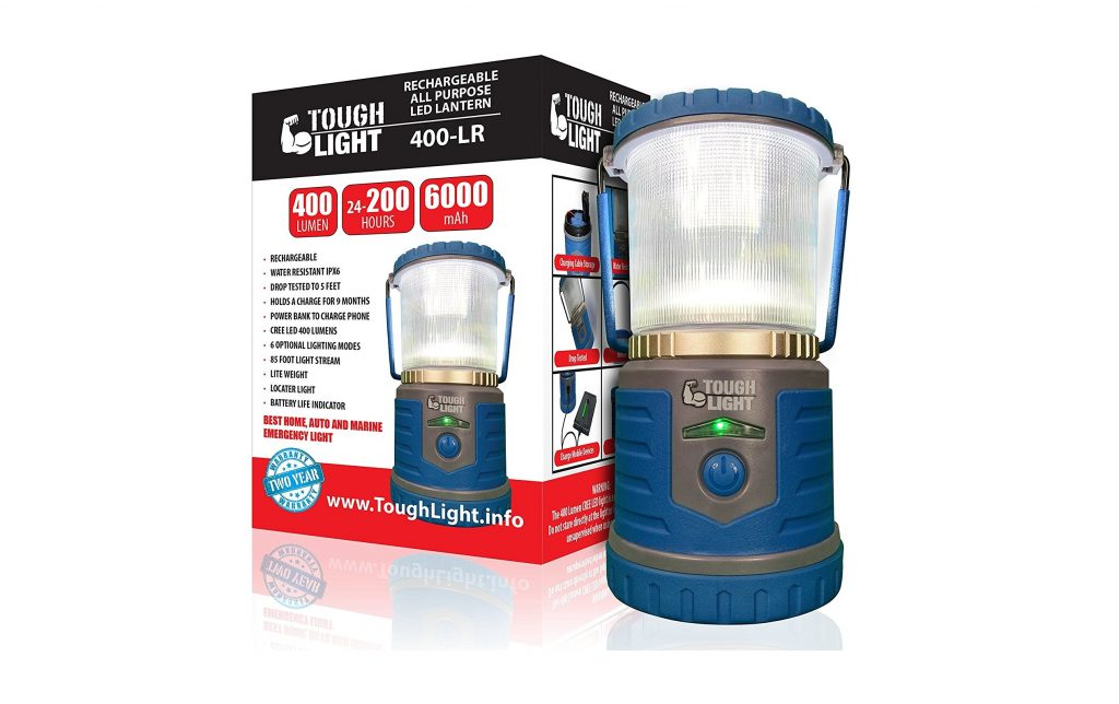 1. Tough Light LED Rechargeable Lantern - 200 Hours of Light from a Single Charge