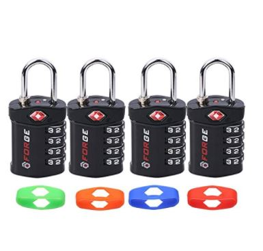 10. 4 Digit TSA Lock, Change Your Own Color and Combination- Best Luggage Locks