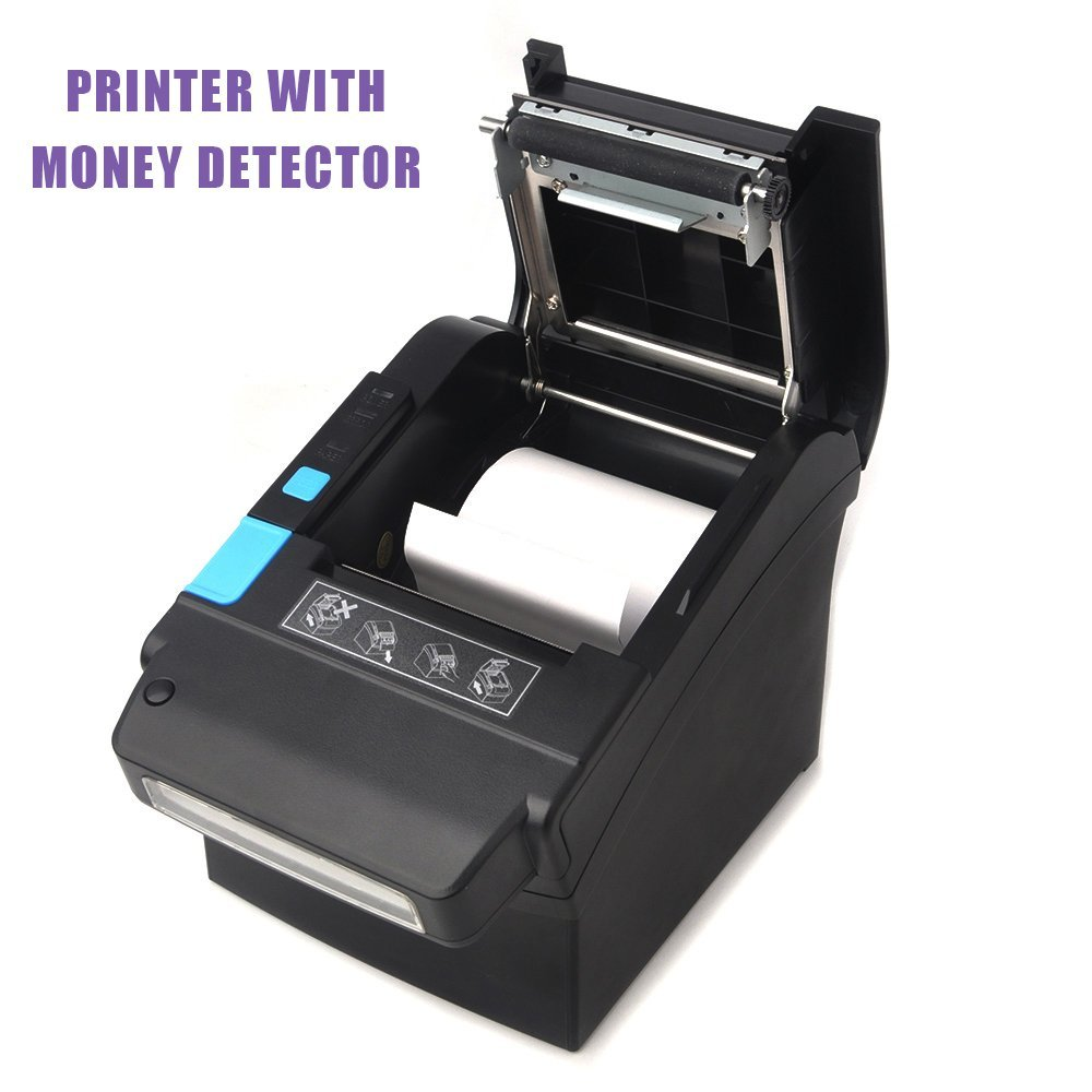 10. 80MM Thermal Receipt POS Printer MUNBYN With US Dollar Currency Detector Professional Payment Machine for Home Business