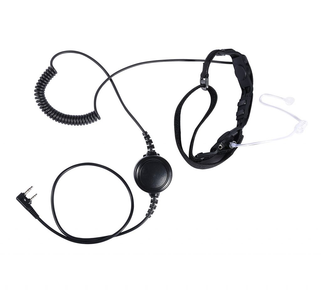 10. CQtransceiver Heavy Duty Throat Mic Headset for Baofeng Portable Radio UV-5R UV-3R PLUS