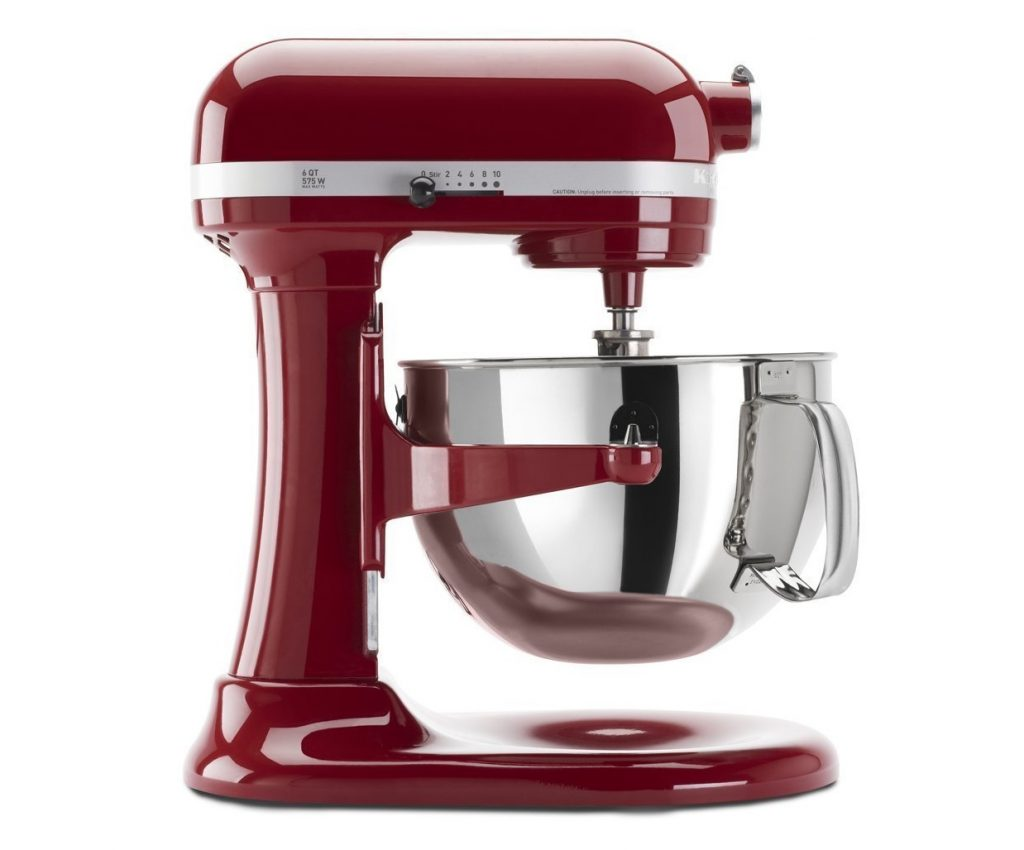 10. Kitchenaid Professional 600 Stand Mixer 6 quart, Empire Red (Certified Refurbished)