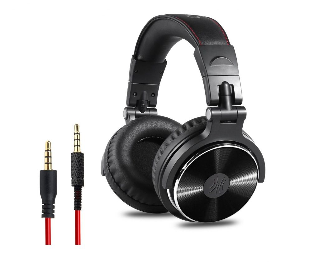 10. OneOdio Adapter-free Closed Back Over-Ear DJ Stereo Monitor Headphones, Professional Studio Monitor & Mixing