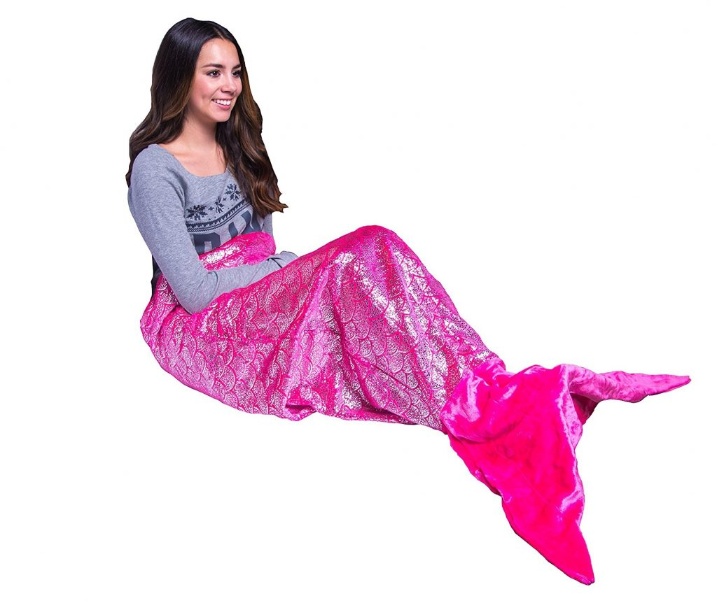 10. PixieCrush Mermaid Tail Blanket For Teenagers