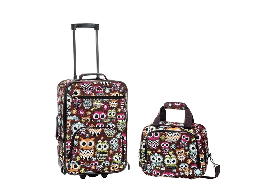 10. Rockland Luggage 2 Piece Set, Owl, One Size
