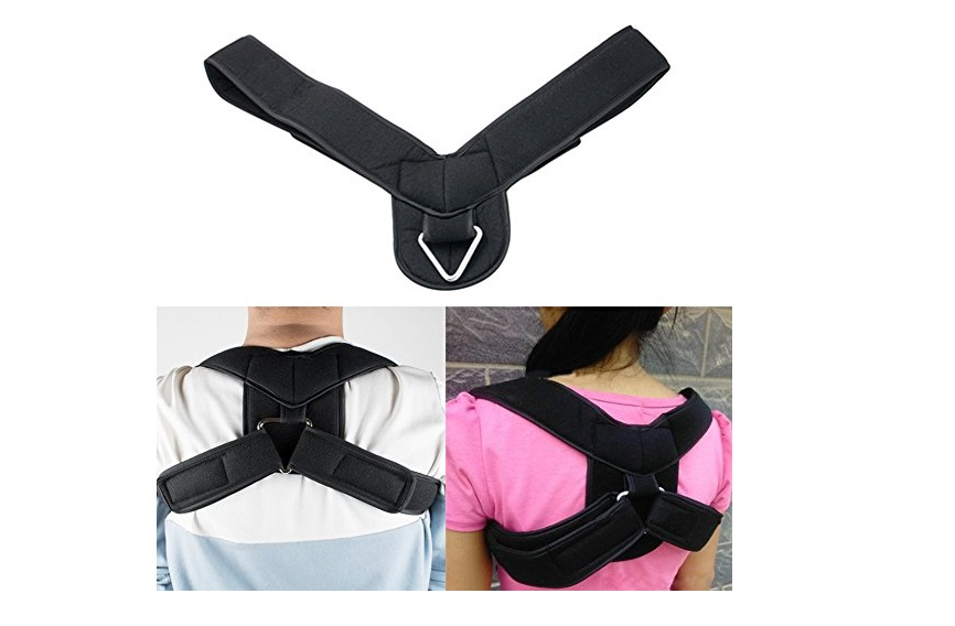 10. Zinnor Posture Corrector Comfort Wearable Shoulder Back Support Brace Neck Pain Relief