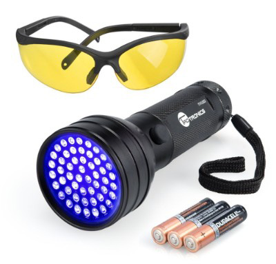 Black Light, TaoTronics UV Flashlights 51 Ultraviolet Urine Detector