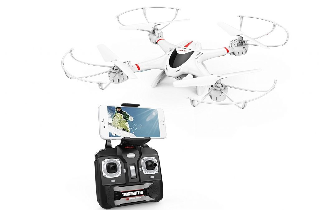 2. DBPOWER MJX X400W FPV Drone with Wifi Camera Live Video Headless Mode