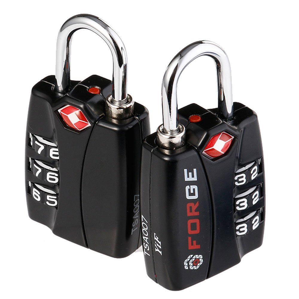 2. Forge TSA Locks 2 Pack - Open Alert Indicator, Alloy Body with Lifetime Warranty