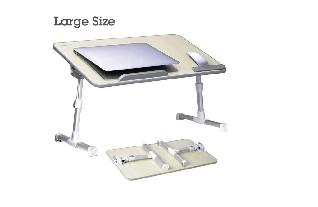 2. [Large Size] Adjustable Laptop Bed Coach Table, Portable Standing Desk