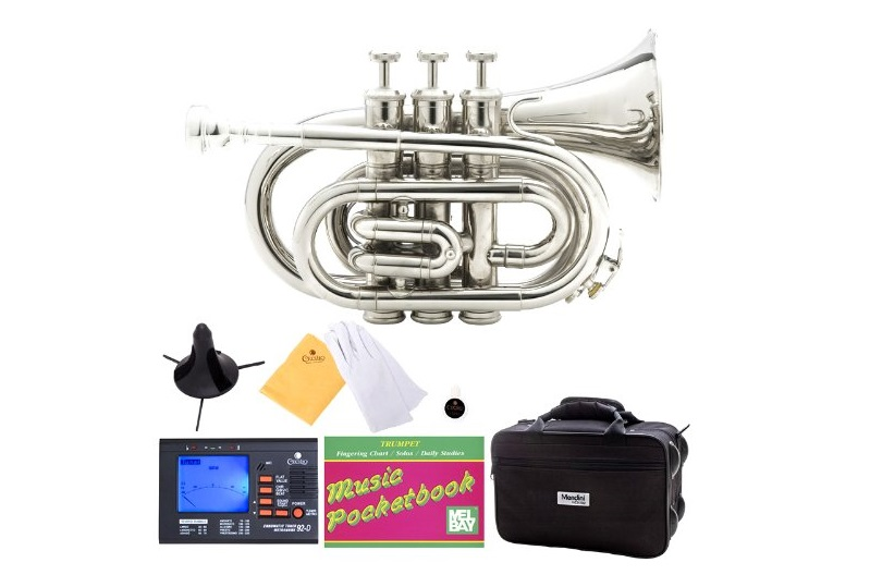 2. Mendini MPT-N Nickel Plated Bb Pocket Trumpet