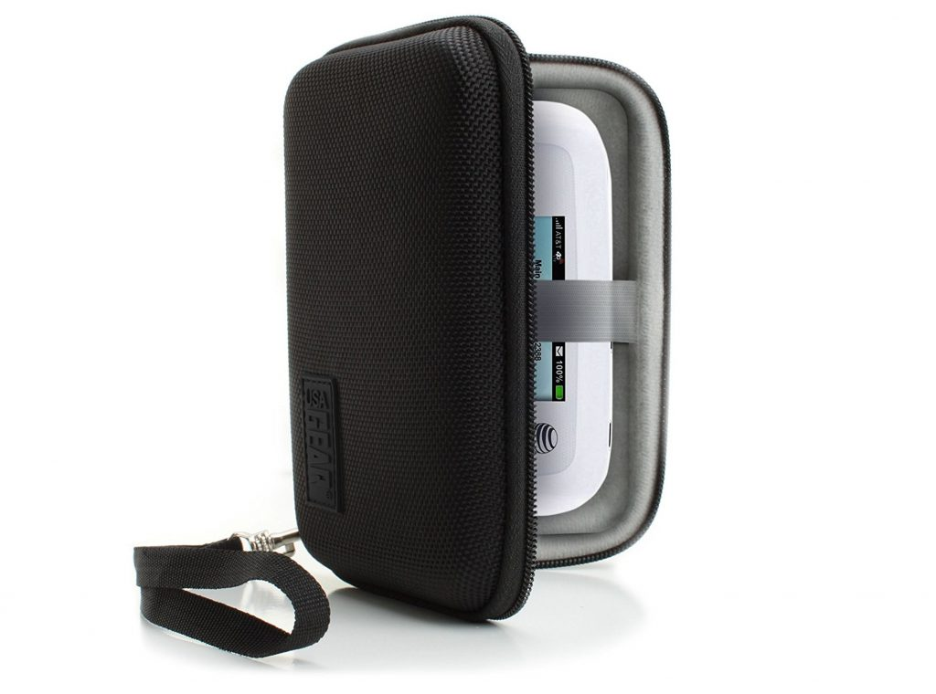 2. WiFi Hotspot Portable Mobile Carrying Case by USA Gear with Detachable Security Wrist Strap