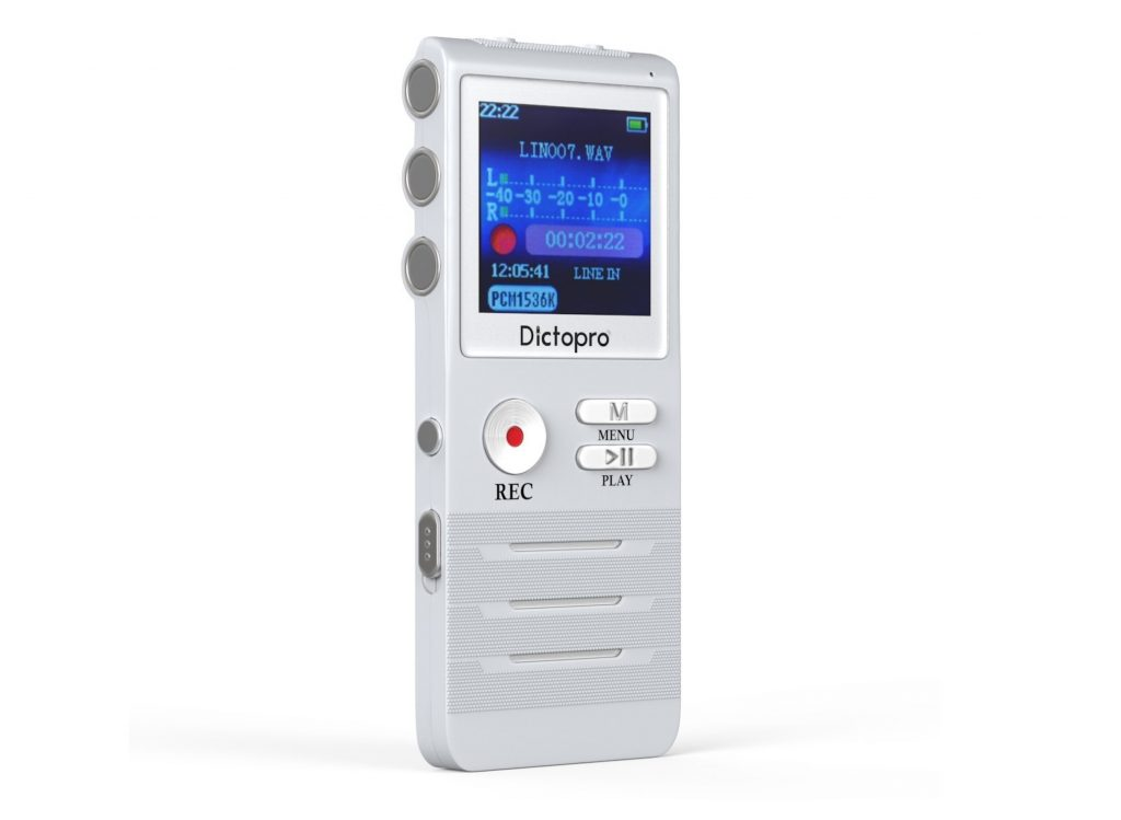 3. Digital Voice Activated Recorder by Dictopro