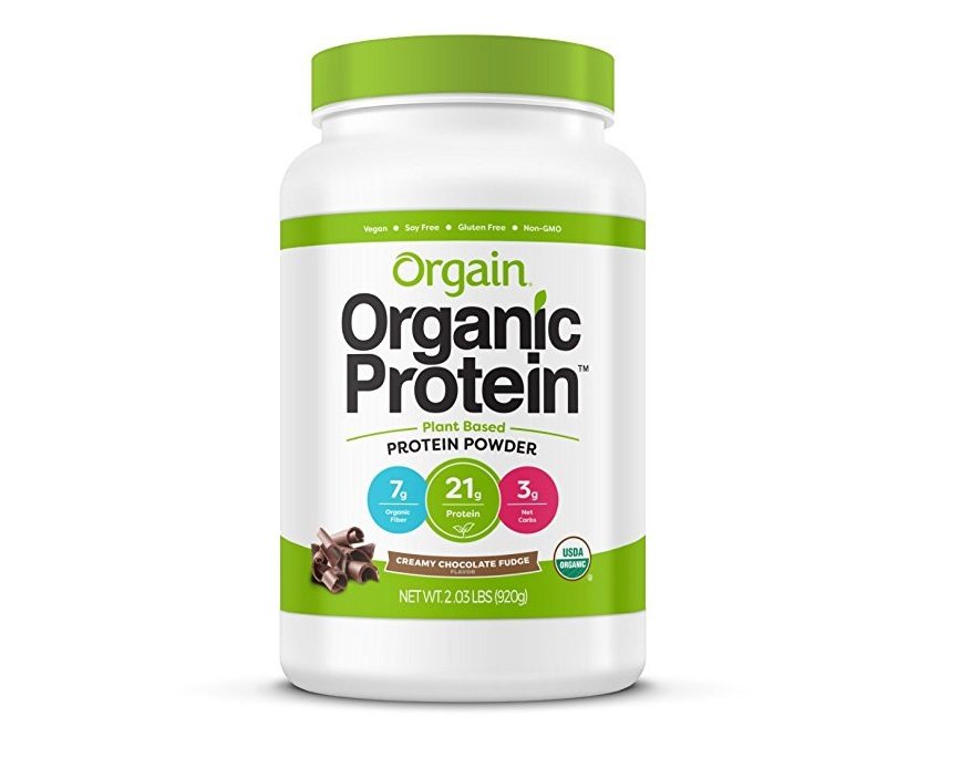 3. Orgain Organic Plant Based Protein Powder, Creamy Chocolate Fudge, 2.03 Pound, 1 Count, Vegan, Non-GMO, Gluten Free, Packaging May Vary