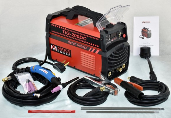 200 Amp TIG Torch:Arc:Stick DC Inverter Welder Dual Voltage IGBT Welding
