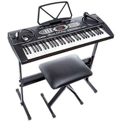 Alesis Melody 61 Beginner Bundle | 61-Key Portable Keyboard with Stand, Bench, Headphones