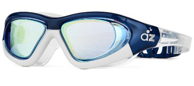 Aquazone Swimming Goggles with Super-Wide Hard Frame, Adjustable Straps, Continuous Seal