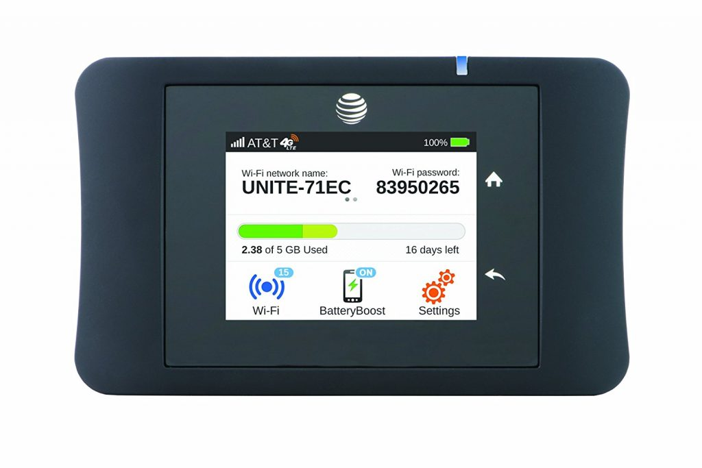 4. AT&T Unite Pro 4G LTE Mobile WiFi Hotspot (AT&T)