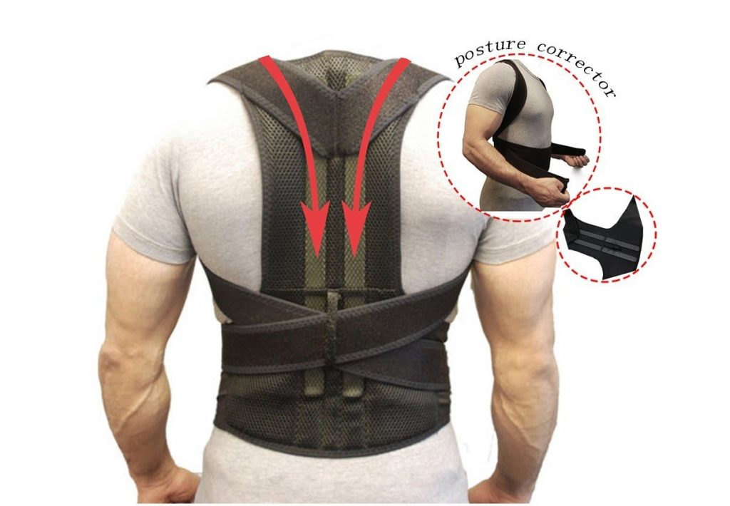 4. Back Support Belts Posture Corrector Back Brace Improves Posture and Provides For Lower and Upper Back Pain Men and Women (M)