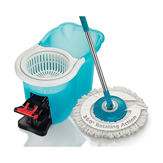 4. Hurricane Spin Mop Home Cleaning System by BulbHead, Floor Mop with Bucket Hardwood Floor Cleaner(Hurricane Spin Mop)