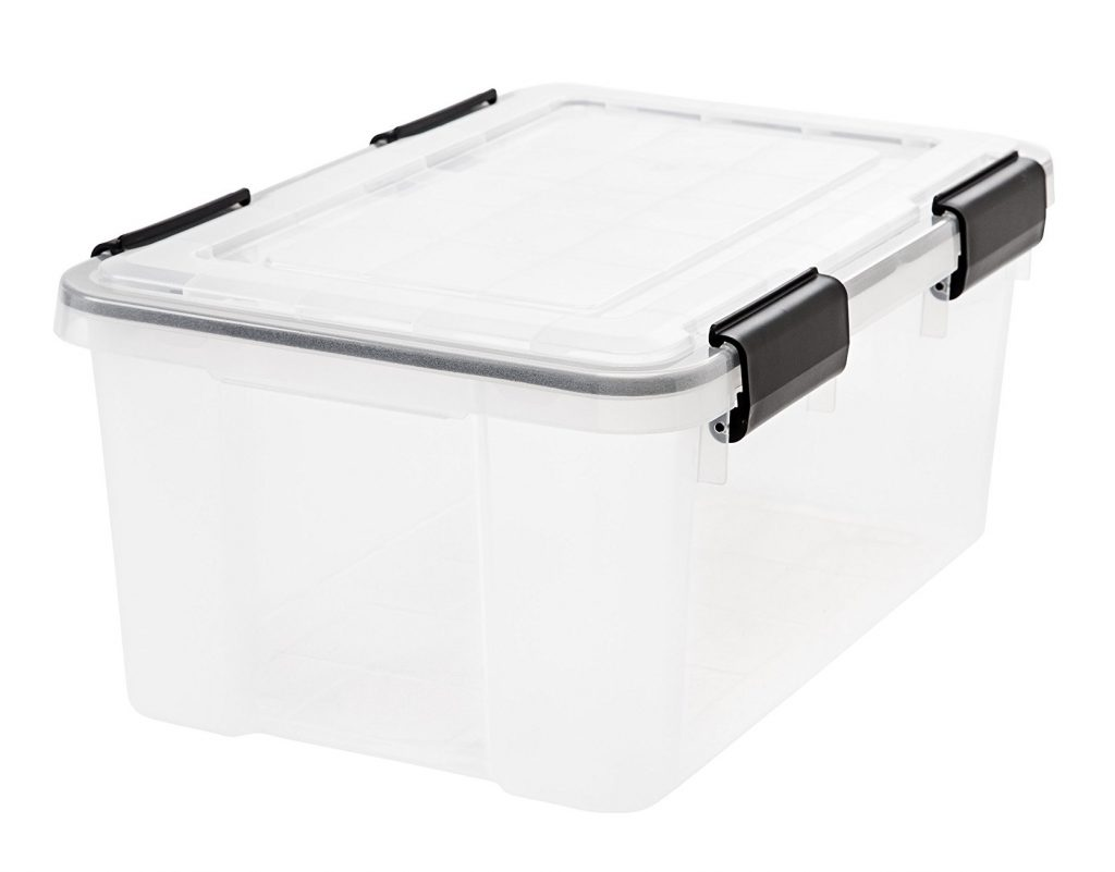 4. IRIS Weathertight Storage Box, 19 Quart - Clear