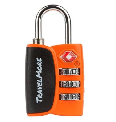 4. Open Alert Indicator TSA Approved 3 Digit Luggage Locks To Lock Travel Suitcase