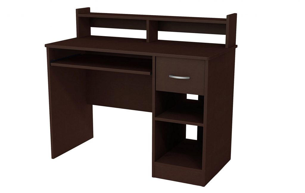 4. South Shore Axess Desk with Keyboard Tray, Chocolate