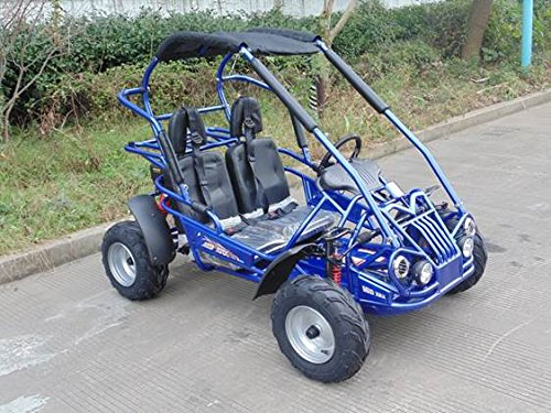 4. TRAILMASTER XRX-R MID-SIZE 200cc KIDS GO KART with REVERSE BLUE