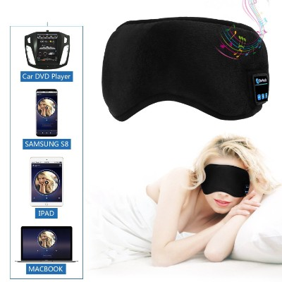 Sleep Eye Mask with Wireless Bluetooth Headphones, WU-MINGLU Travel Sleeping