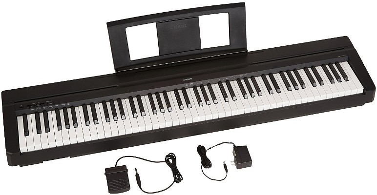 Yamaha P71 88-Key Weighted Action Digital Piano with Sustain Pedal (Amazon-Exclusive)