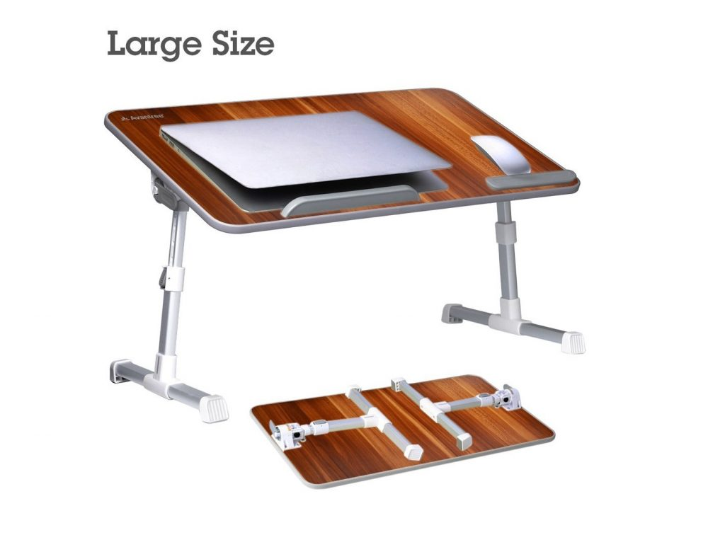 5. Avantree [Large Size] Adjustable Laptop Bed Table, Portable Standing Desk