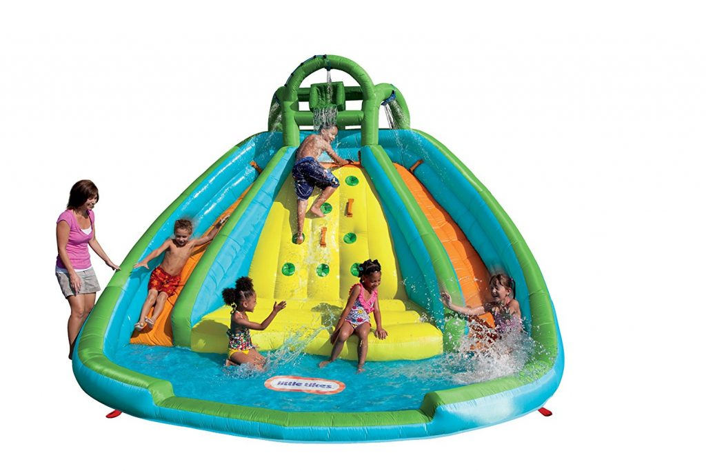 5. Little Tikes Rocky Mountain River Race Inflatable Slide Bouncer