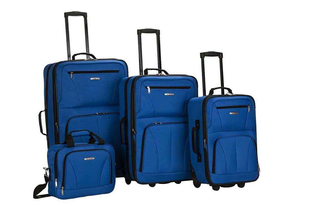 5. Rockland Luggage 4 Piece Set, Blue, One Size