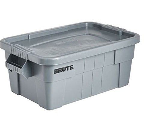 5. Rubbermaid Commercial BRUTE Tote Storage Bin with Lid