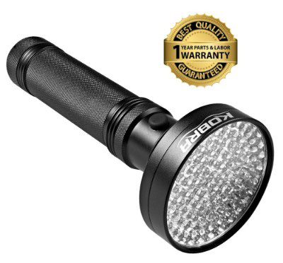 KOBRA UV Black Light Flashlight 100 LED #1 Best UV Light and Blacklight