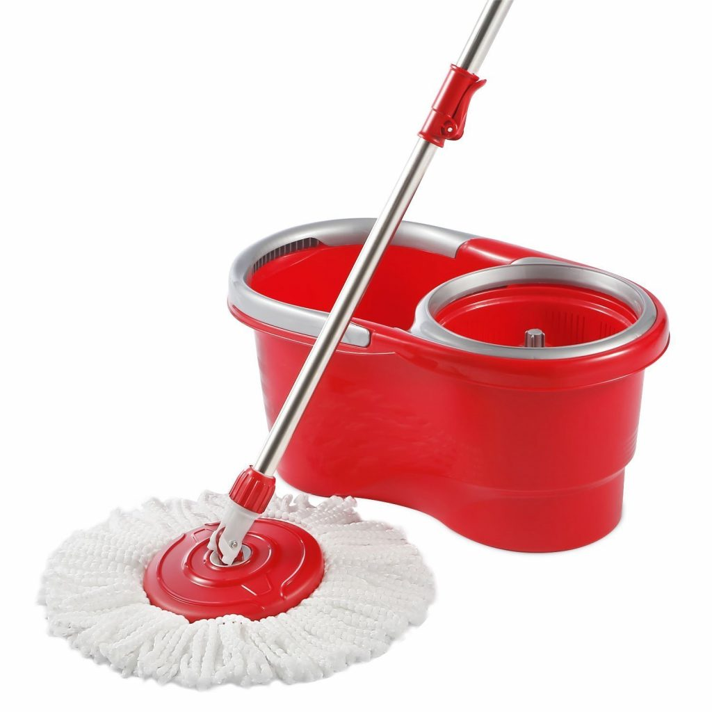 6. Hapinnex Spinning Mop Bucket Set - For Home Kitchen Floors Cleaning