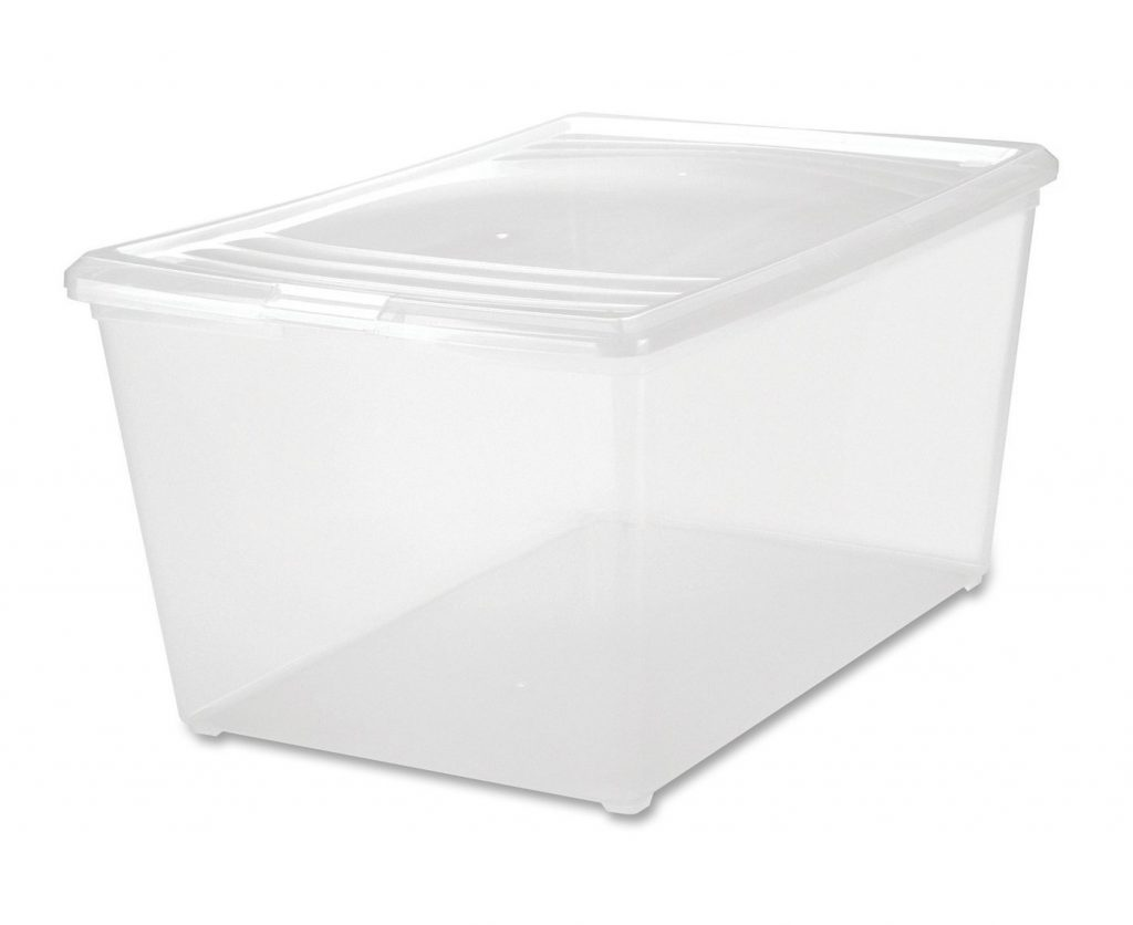 6. IRIS 64 Quart Modular Storage Box, Clear
