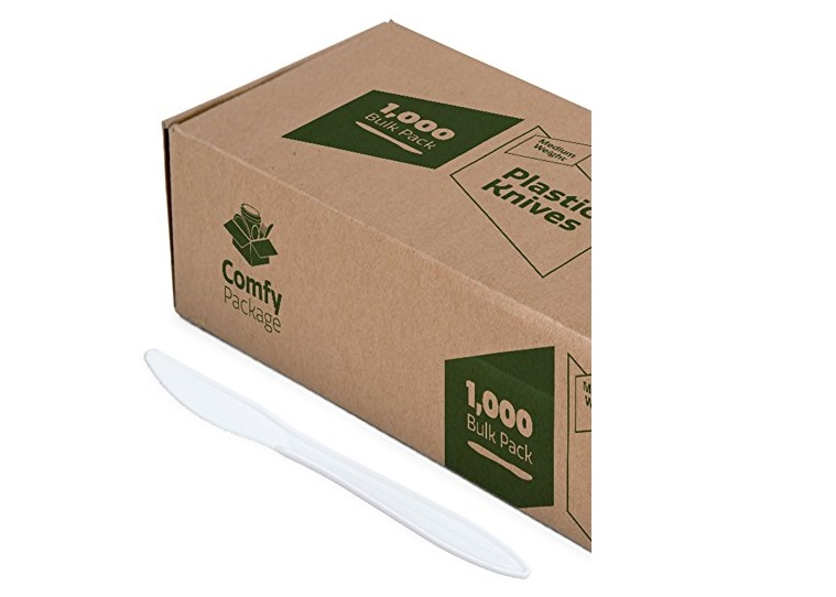 6. Plastic Knives Medium Weight
