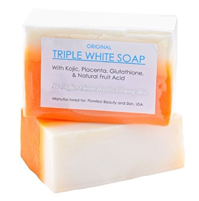 Kojic Acid, Placenta, & Glutathione Triple Whitening:bleaching Soap Appx. 150gms