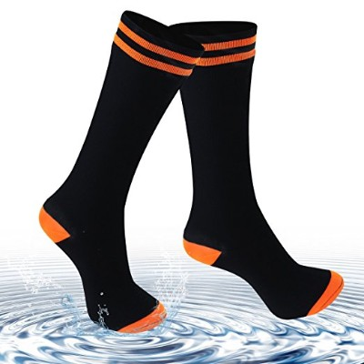 Waterproof Socks for Men and Women, [SGS Certified] Unisex Knee Length