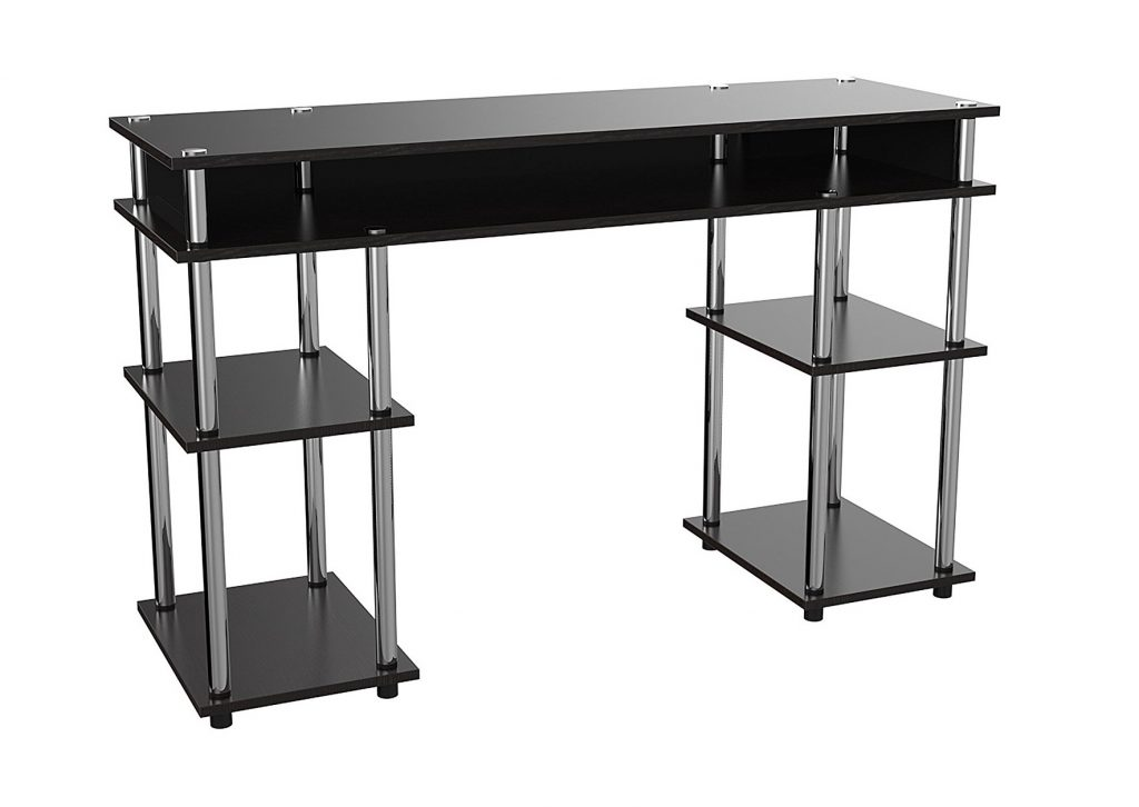 7. Convenience Concepts Modern No Tools Student Desk, Black